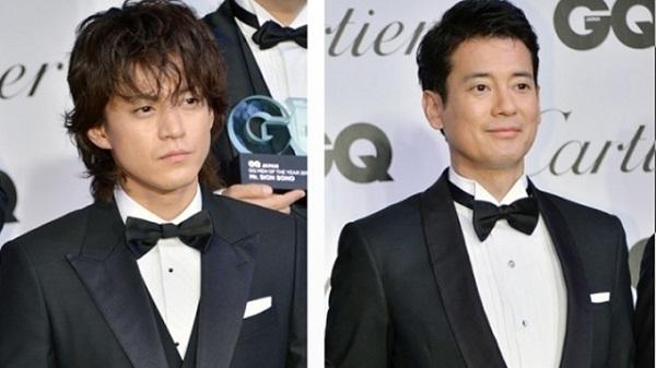 小栗旬(左)獲獎