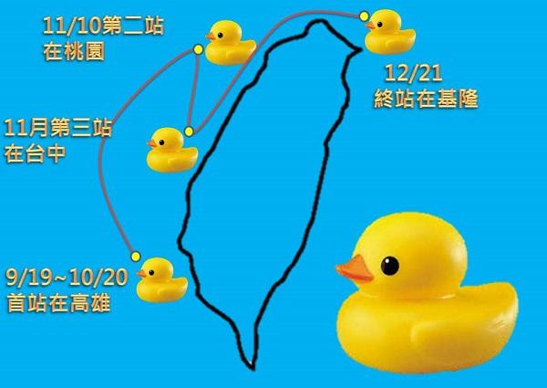 黃色小鴨悠遊