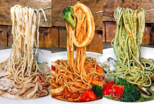 (台北)在CLOUD 9 Cafe用$100多就可以吃到這樣的義大利麵絕對是學生與小資族聚餐首選