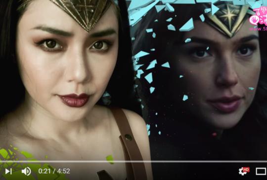 仿妝 神力女超人 Wonder Woman Inspired Makeup