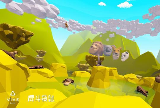 日本知名《戽斗星球》VR 化,HTC 推出扭蛋 VR 體動能遊戲《戽斗袋鼠》