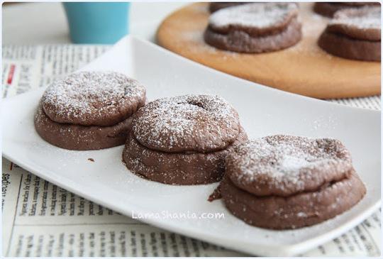 烤厚燒巧克力舒芙蕾鬆餅