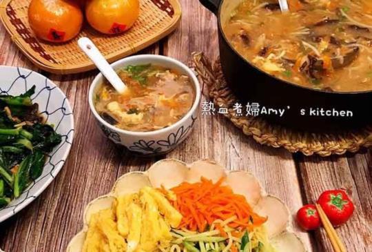 古早味~ 台式涼麵+台式香菇肉羹湯   (美國漢美馳食物料理機食譜)