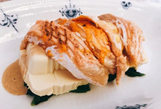 低醣料理 <沙拉> 低醣鮭魚壽司