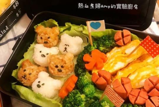 日本ARNEST   迷你小熊湯圓表情飯模造型便當