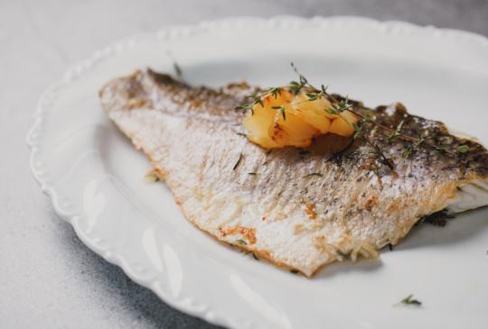 低醣料理 <海鮮> 香煎海鱸魚菲力
