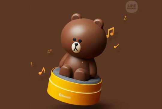 LINE FRIENDS 人氣熊大變身超萌藍牙喇叭,即日起台灣限量開賣