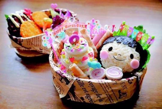 【自己動手做日式造型便當:生日蛋糕便當】