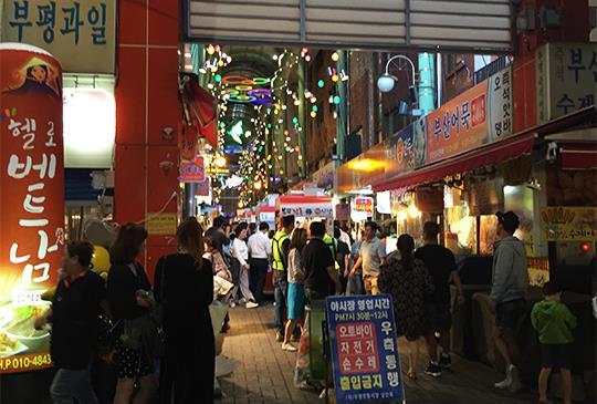 【釜山】富平罐頭夜市,一次享用多國小吃的好選擇