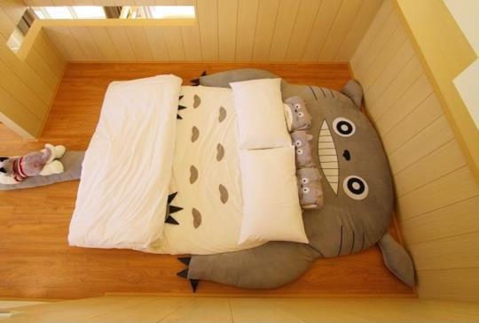 宜蘭 IL行館 可愛萌翻天的龍貓小孩床 連大人都要跟小孩搶的龍貓床 日式簡約恬靜的設計風格 優雅樂音