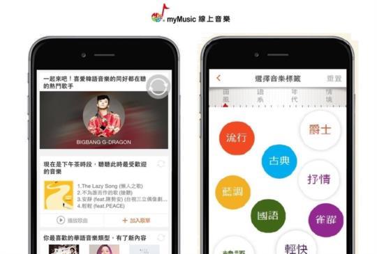 提供專屬個人化音樂功能,台灣大哥大 myMusic 全新改版