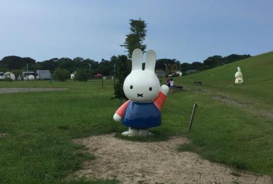 【新北.八里】可愛米飛兔家族,親子旅遊免費好去處「八里文化公園」