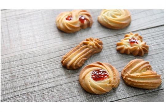 一種花嘴,做出多種造型的維也納酥餅(影音食譜)