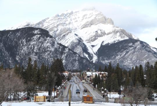 【加拿大。班夫】冬季的班夫小鎮,魅力無法檔