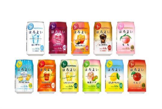 15款ほろよい沙瓦碳酸酒 其中有日本才有的限定款 你喝了搖曳了嗎?