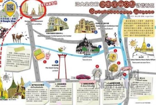 【VT 線上導覽: 沿拉洽丹農大道 訪曼谷舊城區】~景點篇