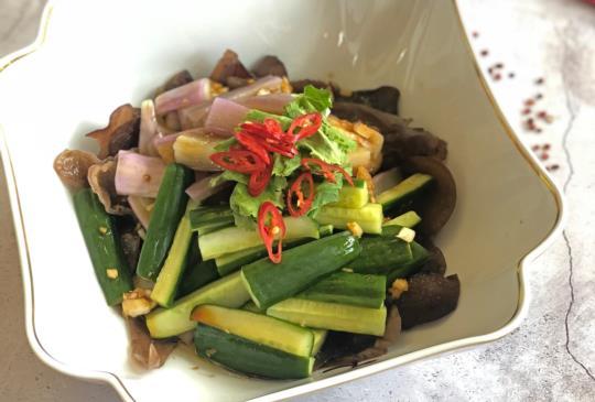 涼拌料理 <蔬菜> 涼拌茄子木耳