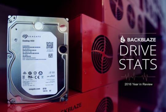 BackBlaze 硬碟穩定度 2016 年統計報告出爐