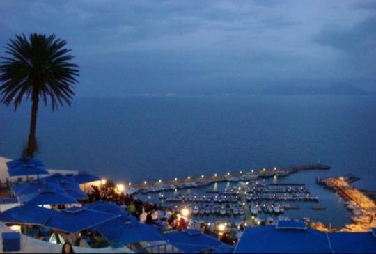 北非【突尼西亞】走進藍白調色盤的西迪博賽德