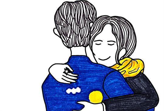 【我喜歡這樣抱著你,不論看向哪都會有你的身影;擁有你,就像擁有了全世界。】