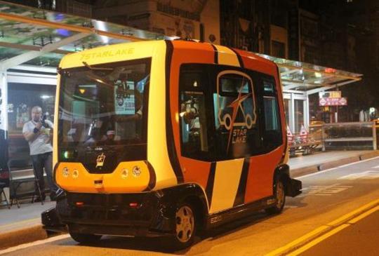 台北市無人巴士初步上路測試完成未來將擴大實施