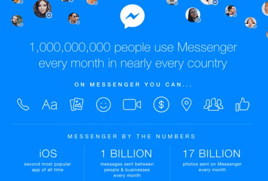 慶祝用戶破 10 億,Facebook Messenger 有飄浮氣球活動