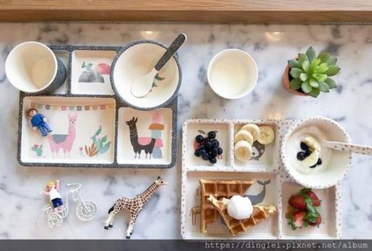 澳洲居家品牌 Love Mae餐桌。環保竹纖維餐盤組,無毒可分解,孩子用起來更安心。