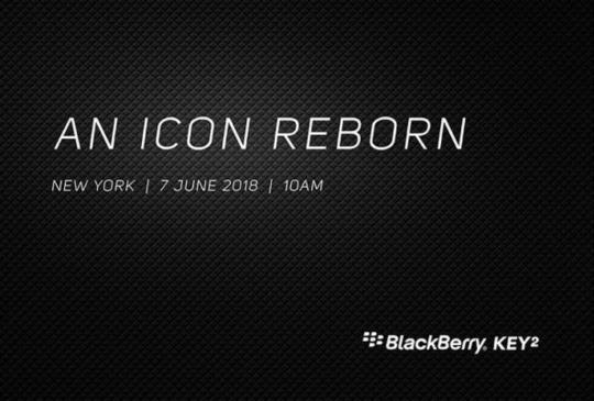 新一代黑莓機 BlackBerry Key2 將於 6/7 紐約正式發表