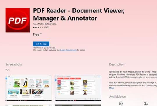 PDF Reader 支援微軟 Windows Ink 提升手寫註記體驗