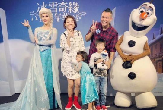 白宮這一家生活遊記:台北101水舞廣場冰雪奇緣