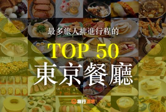 【2018年日本旅遊,最多人排進行程的50間東京餐廳!】