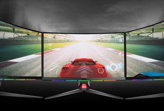 微星 MPG 系列曲面電競顯示器上市,獨創 RGB 遊戲專屬燈條顯示