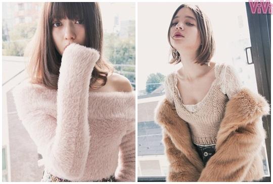 """不小心就這麼可愛啦!冬天外套裡的""""小露肌""""才是時髦最高招!【ViVi】"""