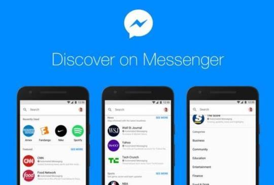 Facebook Messenger 在台推出「探索」功能,正面迎戰 LINE@