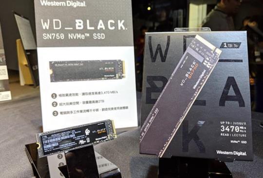 針對電競就是要快!Western Digital發表WD Black SN750 NVMe SSD