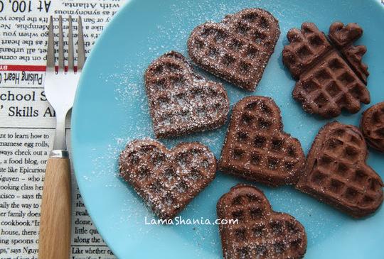 自己調製巧克力鬆餅 -- 真的好好吃!
