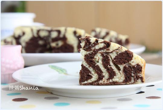 「鬆餅粉71」 簡單又漂亮的 斑馬鬆餅蛋糕