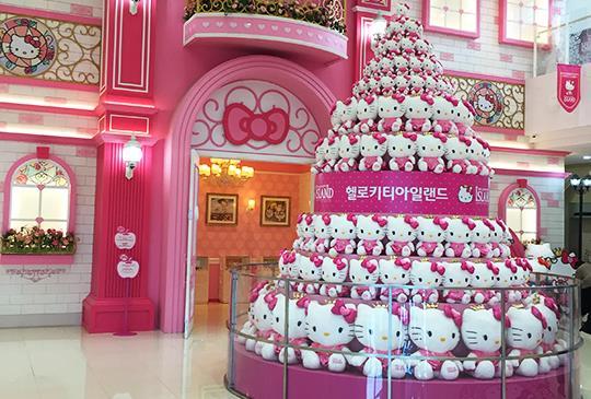 貓迷們尖叫吧!【韓國】第一座Hello Kitty粉紅夢幻樂園