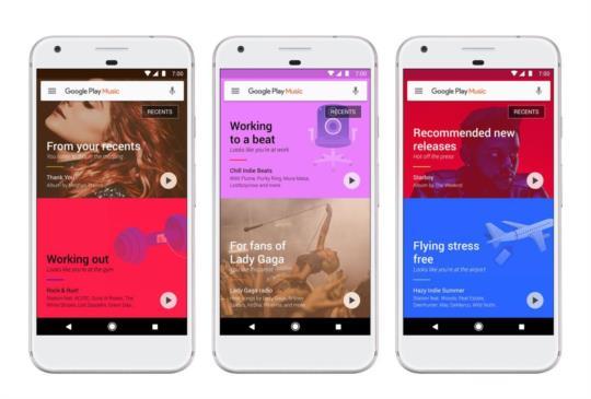 Google Play Music 大更新,介面更美觀推薦歌單更智慧化