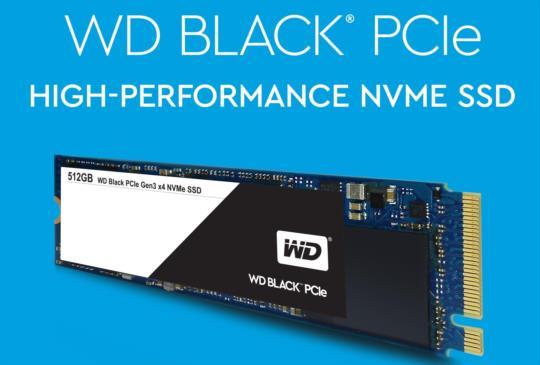 WD 發表首款 Black PCIe 固態硬碟,加速市場 NVMe 產品需求