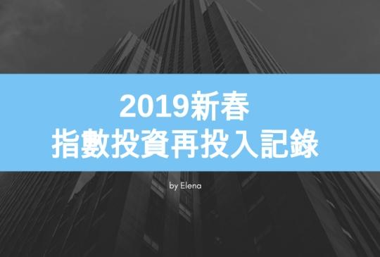 2019新春-指數投資再投入記錄