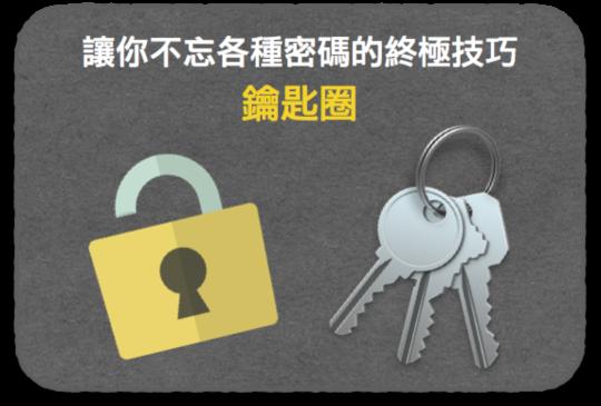 Mac 內建冷軟體(八):「鑰匙圈」讓你不忘各種密碼的終極技巧