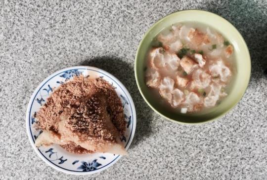 【台南人氣早餐真的老店「老店」菜粽肉粽】