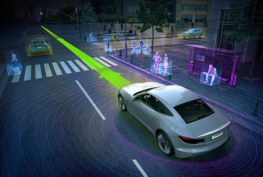 NVIDIA 結合自家 GPU 強大運算能力,讓自動駕駛車更具智慧