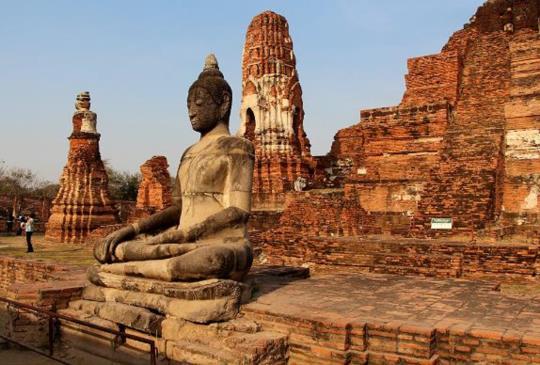 【泰國大城】瑪哈泰寺樹中佛-人心盡在貪婪中