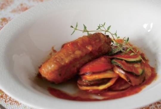 【使用調理機自己做歐式宮廷規格料理:普羅旺斯蔬菜燉雞】