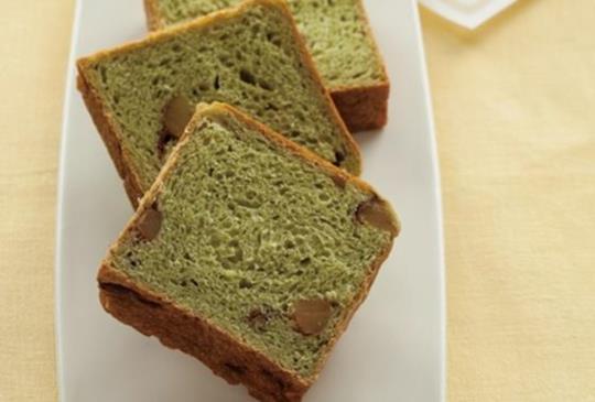 【自製立方體造型甜點:抹茶栗子麵包】