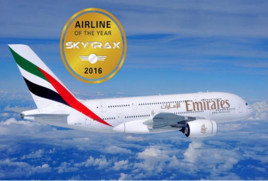 2016全球十大最佳航空公司