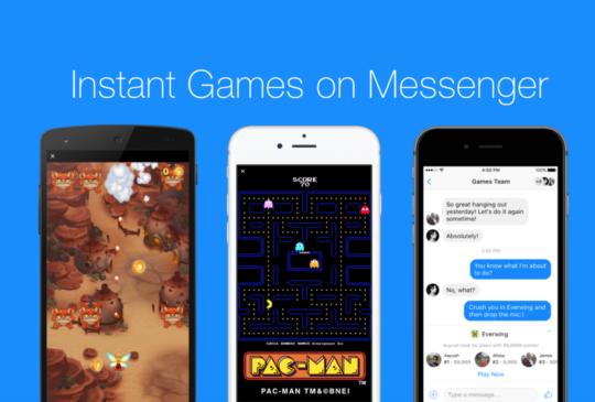 Facebook Messenger 可以和朋友玩遊戲了!