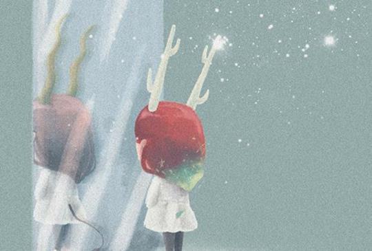 努力又寂寞的小小背影,溫柔害羞的插畫心情